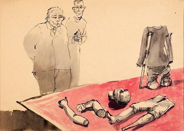 Andrzej Wróblewski. Muzeum (Museo).Dibujo, 1956