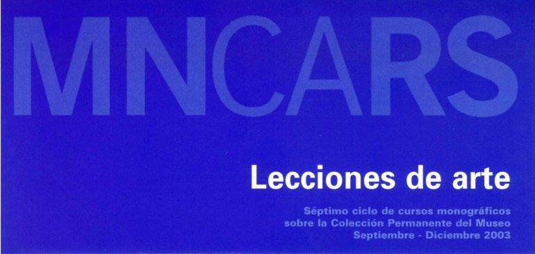 Material de difusión de Lecciones de Arte 2003