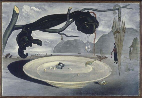 Salvador Dalí. The Enigma of Hitler (El enigma de Hitler), 1939. Óleo sobre lienzo, 95 x 141 cm / Con marco: 110,5 x 156 cm