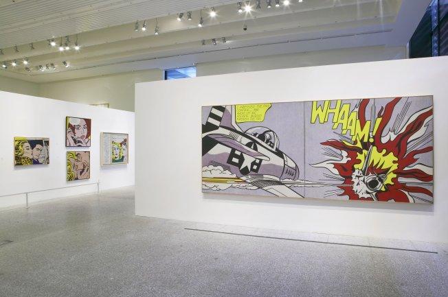 Vista de sala de la exposición Roy Lichtenstein. All about art