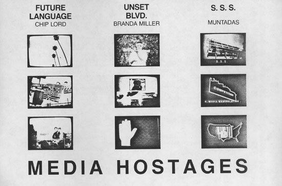 Chip Lord, Branda Miller y Muntadas. Media Hostages, 1985