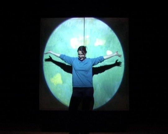 Durante la representación teatral. Museo Reina Sofía, 2007.