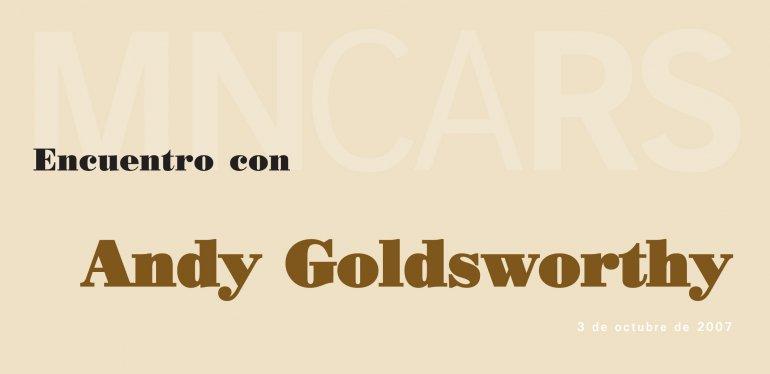 Portada del folleto del encuentro con Andy Goldsworthy. Museo Reina Sofía, 2007.