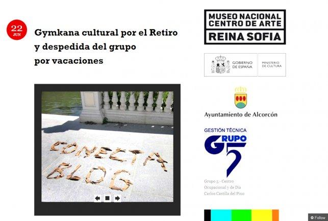 Imagen del Blog realizado por Conect@. Museo Reina Sofía, 2010