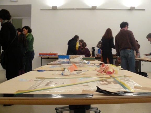 Ejemplos de las producciones en el taller posterior a la visita