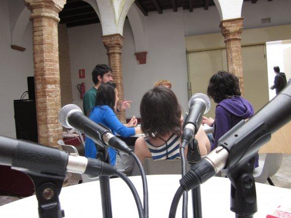 Taller de radio colectiva en Zemos 98, 2011