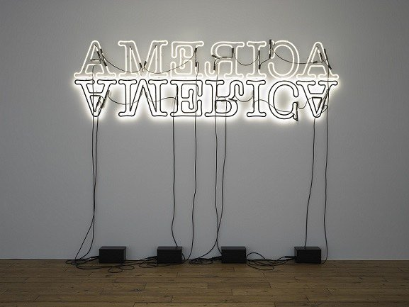 Glenn Ligon. Untitled (Double America). Neon, 2012