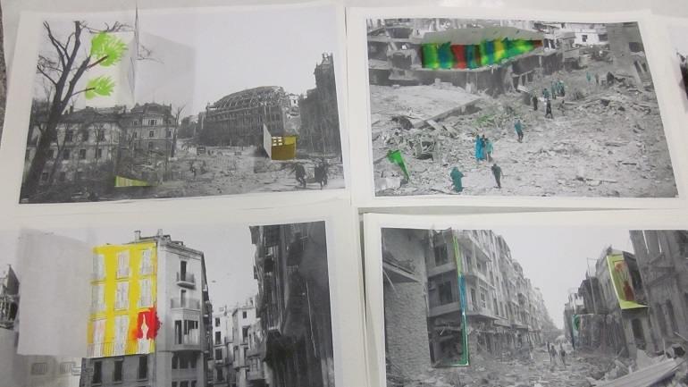 Resultados de un trabajo de reconstrucción plástica sobre imágenes de guerra