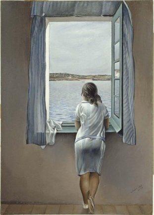 Salvador Dalí. Figura en una ventana, 1925