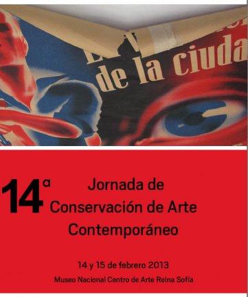 Cartel de la 14ª Jornada de Conservación de Arte Contemporáneo
