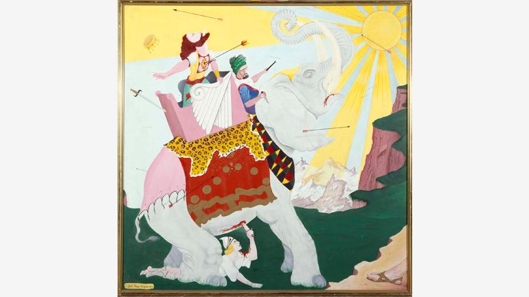 Rafael Pérez-Mínguez, Sin título (El elefante), 1973