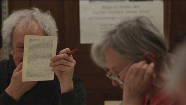 Documentary The Joycean Society. Dora García, 2013