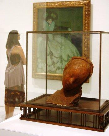 Visitante del Museo