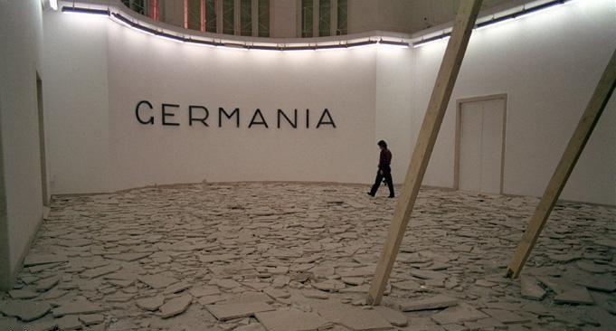 Hans Haacke. Germany Pavillion. Venice Biennale. Installation, 1993.
