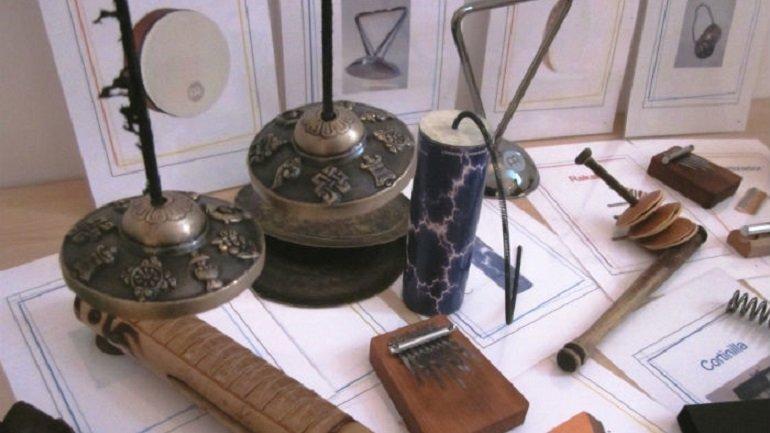 Instrumentos musicales no convencionales utilizados en el taller