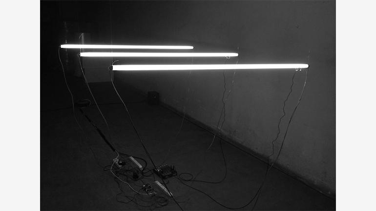 Oscar Martín, proyecto Meta Music Machines. FASE. Espacio de creación y pensamiento, L'Hospitalet de Llobregat, 2019. Fotografía: Violeta Mayoral