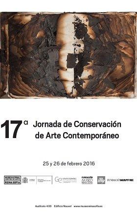Cartel 17ª Jornada de Conservación de Arte Contemporáneo