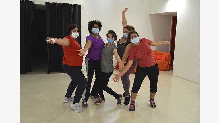 Participantes durante el desarrollo de uno de los talleres, 2020. Fotografía: Arancha Ríos Perdomo