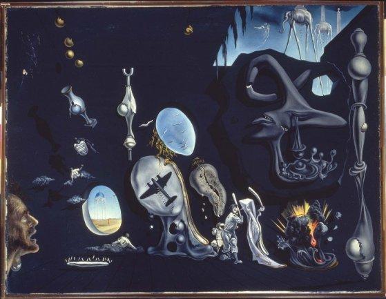 Salvador Dalí. Idilio atómico y uránico melancólico, 1945. Óleo sobre lienzo. Museo Nacional Centro de Arte Reina Sofía