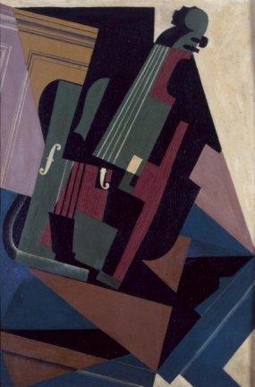 Juan Gris. Le Violon (El violín), 1916. Óleo sobre contrachapado. Museo Nacional Centro de Arte Reina Sofía