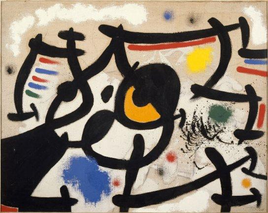 Joan Miró. Femmes VI (Mujeres VI), 1969. Óleo sobre lienzo. Museo Nacional Centro de Arte Reina Sofía