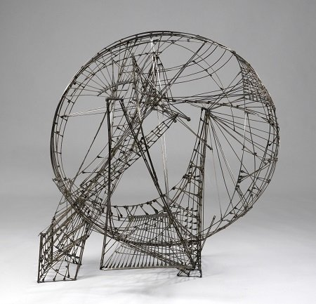 Constant Ruimtecircus, 1958. Wire and copper. Gemeentemuseum Den Haag © Constant, VEGAP, Madrid, 2015