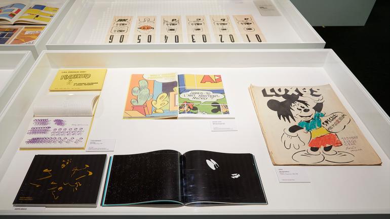 Vista de la exposición Cómics: una nueva lectura. Museo Nacional Centro de Arte Reina Sofía, 2018