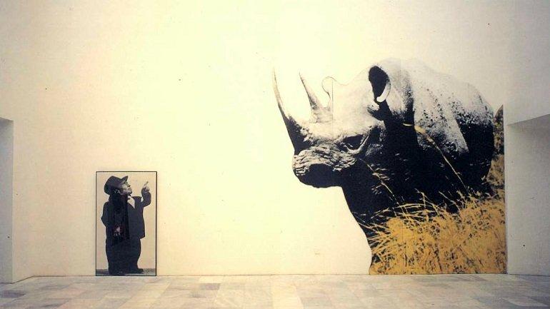 Vista de sala de la exposición. John Baldessari. Ni por esas-Not even so, 1989