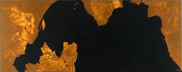 Robert Motherwell. Presencia amenazante, 1976. Pintura. Colección Museo Nacional Centro de Arte Reina Sofía, Madrid
