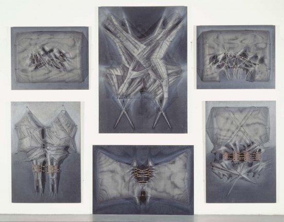 Manuel Rivera. Retablo para las víctimas de la violencia, 1977-1979. Painting. Museo Nacional Centro de Arte Reina Sofía Collection, Madrid