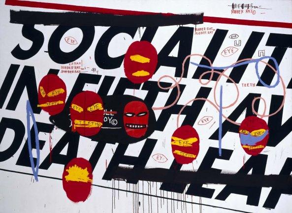 Andy Warhol y Jean-Michel Basquiat. Socialite, 1984. Painting. Museo Nacional Centro de Arte Reina Sofía Collection, Madrid