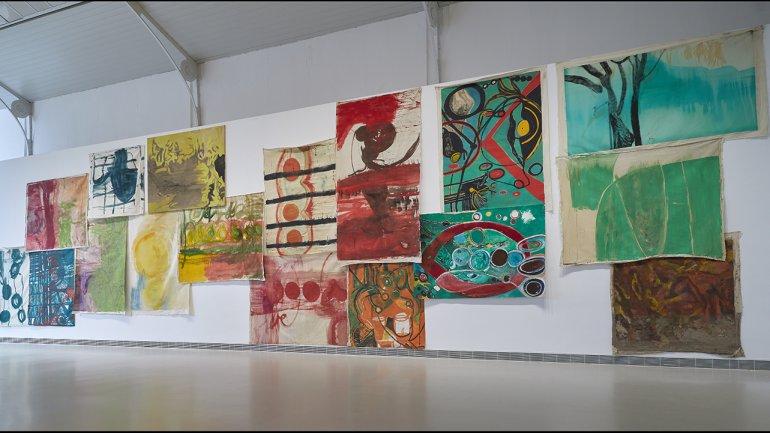 View of the exhibition Vivian Suter, 2021