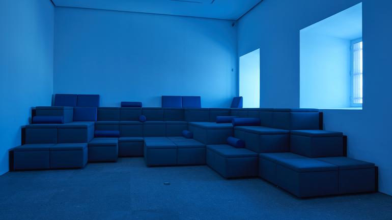 Vista de la exposición Audiosfera. Experimentación sonora 1980-2020, 2020