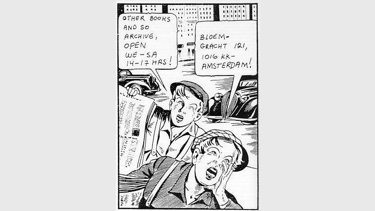 Detalle del logotipo y membrete de correspondencia de Other Books and So Archive, 1979-1982/89. Museo Nacional Centro de Arte Reina Sofía, Biblioteca y Centro de Documentación