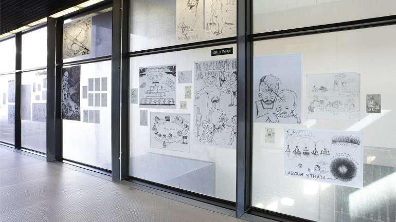 Vista de sala de la exposición. Efrén Álvarez. Económicos, 2011