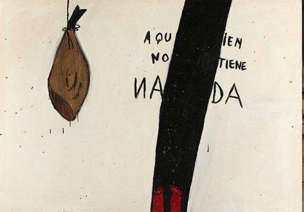 Ferran Garcia Sevilla, Tata 8, 1984. Técnica mixta sobre lienzo, 195 x 270 cm. Colección particular. © VEGAP, Madrid, 2013