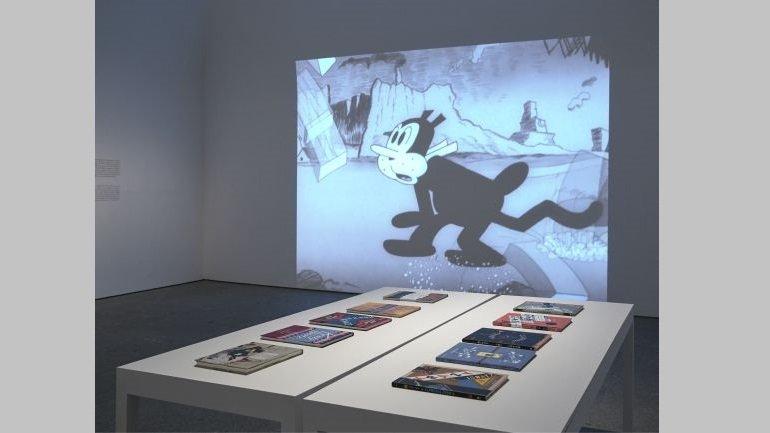 Vista de sala de la exposición George Herriman. Krazy Kat es Krazy Kat es Krazy Kat