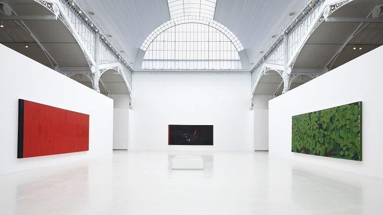 Vista de sala de la exposición Kerry James Marshall: pintura y otras cosas, 2014