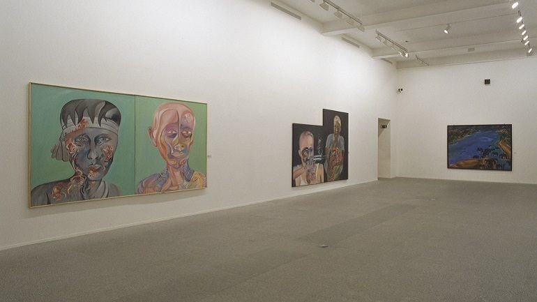Exhibition view. Bhupen Khakhar, 2002