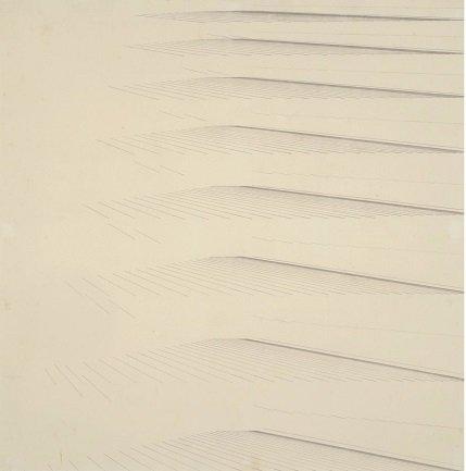 Mohamedi, Nasreen. Sin título (Untitled), Ca. 1970. Tinta y grafito sobre papel, 18,9 x 18,9 cm. KIRAN NADAR MUSEUM OF ART