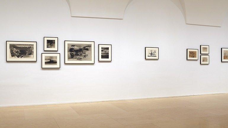 Vista de sala de la exposición Nasreen Mohamedi. La espera forma parte de una vida intensa, 2015