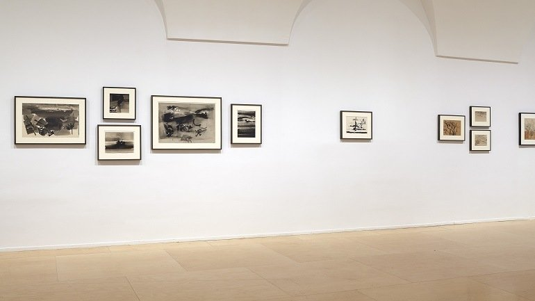 Exhibition view. Nasreen Mohamedi, 2015