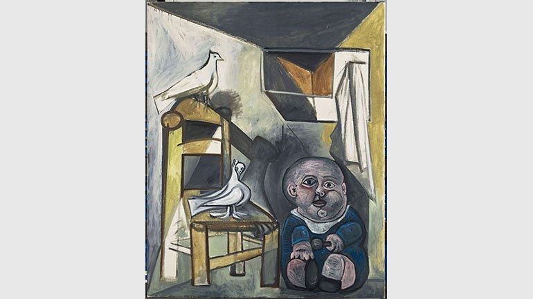 Pablo Picasso, L'Enfant aux colombes, 1943. © RMN-Grand Palais (Musée national Picasso-Paris) / Mathieu Rabeau © Sucesión Pablo Picasso, VEGAP, Madrid, 2018
