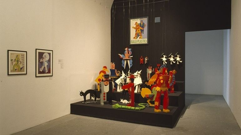 Exhibition view. The Theatre of Painters in Avant-garde Europe, 2000
