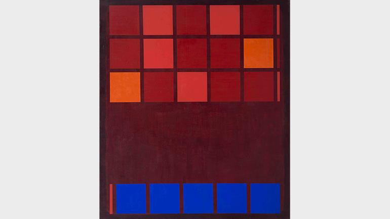 Mohamed Melehi, IBM, 1962. Mathaf: Arab Museum of Modern Art – Qatar Museums y Qatar Foundation © Mohamed Melehi, VEGAP, Madrid, 2021