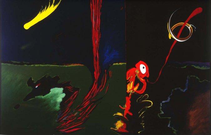 Carlos Alcolea, Finisterre, 1988-1989. Acrílico sobre lienzo. 200 x 300 cm. Depósito temporal de la Fundación ICO