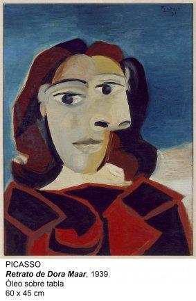 Picasso. Retrato de Dora Maar, 1939. Óleo sobre tabla. 60 x 45 cm.