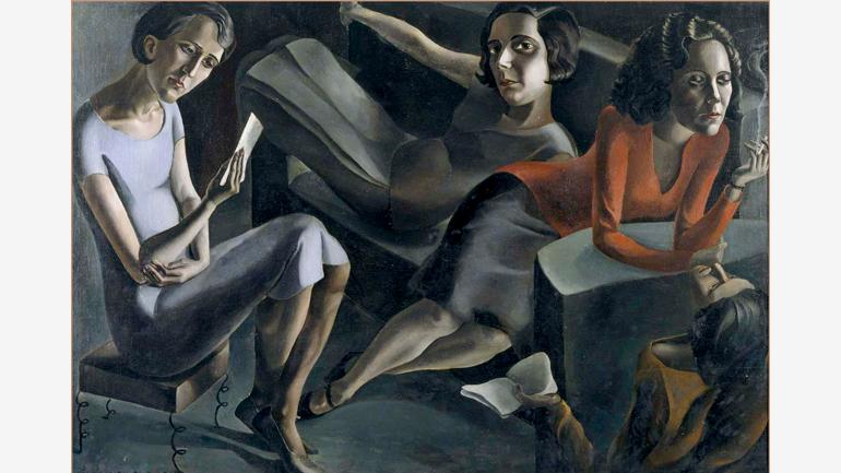 Ángeles Santos, Tertulia, 1929. Museo Nacional Centro de Arte Reina Sofía. © Ángeles Santos. VEGAP, Madrid