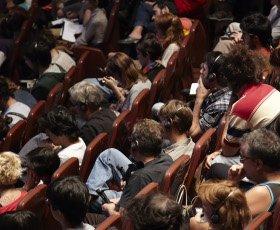 Público en el auditorio