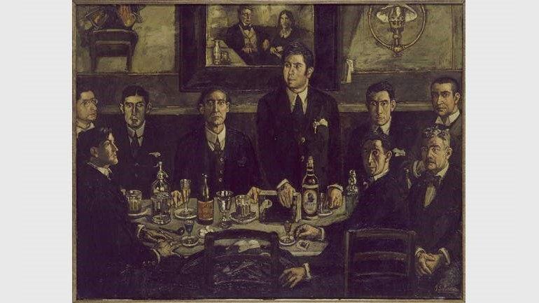 José Gutiérrez Solana. La tertulia del café de Pombo, 1920